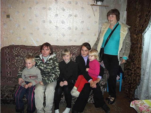 Sponsor visiting her 'family'